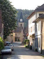 Photo : La rue principale du village